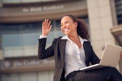 женщина дела excited Стоковое Изображение RF