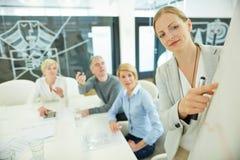 женщина деловой встречи Стоковые Изображения RF