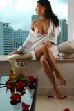 женщина женское бельё Стоковые Изображения RF