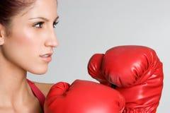 женщина женщины боксера Стоковые Фотографии RF