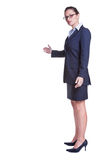 женщина жеста дела приветствующая Стоковое Изображение