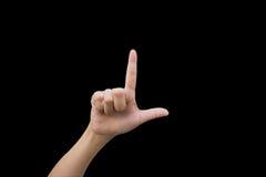 Женщина жестов рукой Стоковые Фотографии RF