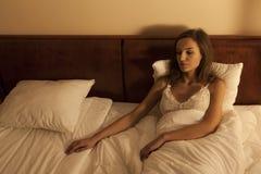 Женщина ждать ее парня Стоковое фото RF