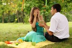 Женщина закрыла ее глаза Стоковое фото RF