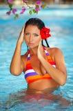 женщина заплывания бассеина Стоковая Фотография
