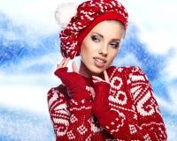 женщина зимы абстрактной иллюстрации стильная Стоковое Фото
