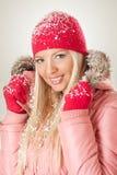 женщина зимы абстрактной иллюстрации стильная Стоковое Изображение