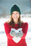 женщина зимы абстрактной иллюстрации стильная Стоковое фото RF