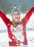 женщина зимы абстрактной иллюстрации стильная Стоковая Фотография RF