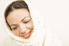 женщина зимы абстрактной иллюстрации стильная Стоковые Фотографии RF