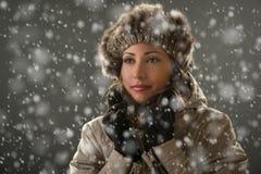 женщина зимы абстрактной иллюстрации стильная Стоковая Фотография