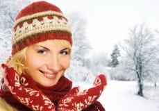 женщина зимы одежды Стоковая Фотография