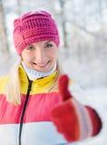 женщина зимы одежды Стоковое Изображение RF
