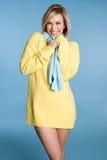 женщина зимы свитера Стоковая Фотография