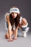 женщина зимы способа Стоковая Фотография