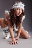 женщина зимы способа Стоковое фото RF
