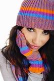женщина зимы способа Стоковые Изображения RF