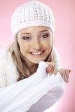 женщина зимы способа Стоковые Фотографии RF