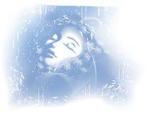 женщина зимы стороны красотки Стоковая Фотография