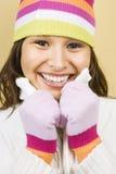 женщина зимы шлема Стоковое Изображение RF
