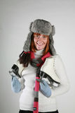 женщина зимы стоковое изображение rf