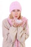 женщина зимы Стоковое фото RF