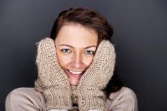 женщина зимы Стоковые Фото