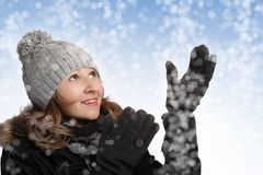 женщина зимы Стоковое Изображение