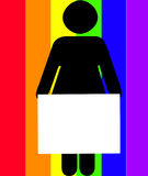 женщина знака удерживания Стоковые Фотографии RF