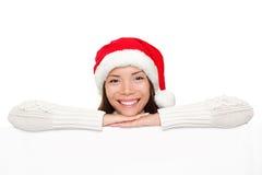 женщина знака santa рождества Стоковое Изображение RF