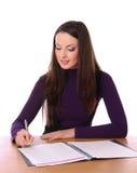женщина знаков документа милая стоковое фото