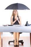 женщина зонтика дела Стоковое Фото
