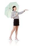 женщина зонтика удерживания дела Стоковая Фотография RF