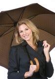 женщина зонтика удерживания Стоковое Фото