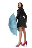 женщина зонтика Стоковое фото RF