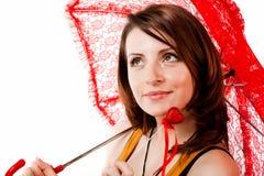 женщина зонтика Стоковая Фотография RF
