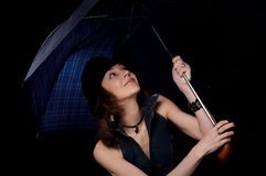 женщина зонтика Стоковые Изображения