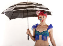 женщина зонтика Стоковые Изображения RF