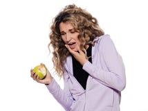 женщина зубов портрета боли Стоковая Фотография RF