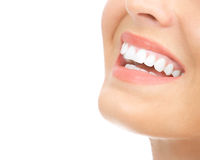 женщина зубов Стоковое Изображение