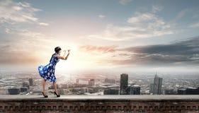 Женщина играя файф Стоковая Фотография RF