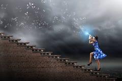 Женщина играя файф Стоковые Фотографии RF