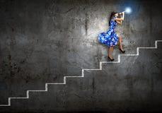 Женщина играя файф Стоковое Изображение RF