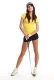 женщина игрока гольфа стоковые изображения rf