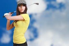 женщина игрока гольфа Стоковые Фотографии RF