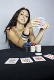 женщина игрока Стоковые Изображения RF