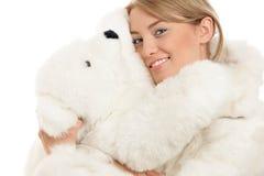 женщина игрушечного медведя Стоковое фото RF