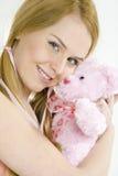 женщина игрушечного медведя Стоковое Изображение RF