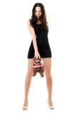 женщина игрушечного медведя Стоковая Фотография RF