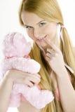 женщина игрушечного медведя Стоковые Фотографии RF